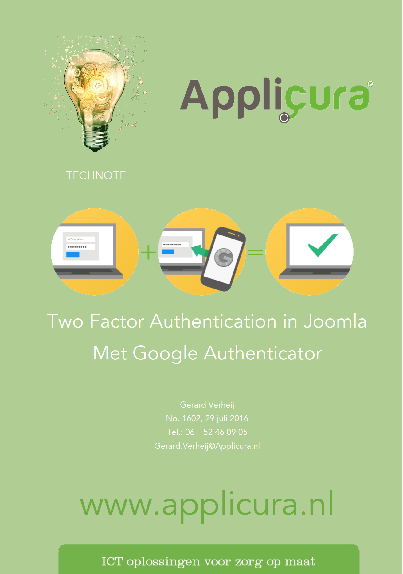 Technote 1602 Two Factor authenticatie met Google Authenticator